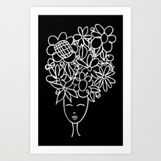 flowers in your hair Art Print