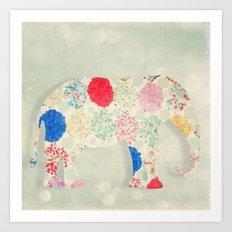 The Elephant in the Room -- Whimsical Nursery Art and Decor Art Print