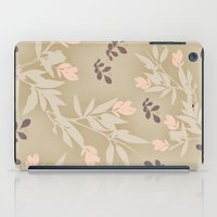 vintage flowers iPad Cases featuring vintage flowers by Julia Tomova