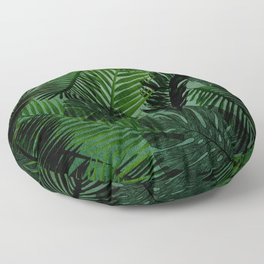 Green Foliage Floor Pillow