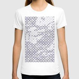 Lilac-gray polka dots with texture T-shirt