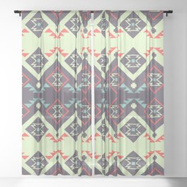 Tribal space Sheer Curtain