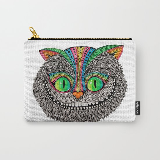 Alice´s cheshire cat by Luna Portnoi Carry-All Pouch