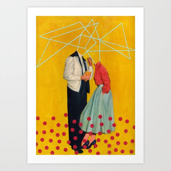50's Couple Art Print