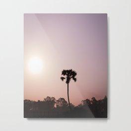 Purple Palms Metal Print