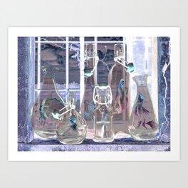Bottled Mermaids Art Print