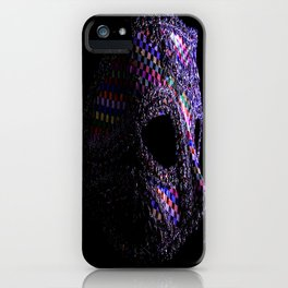Harlequin mask iPhone Case