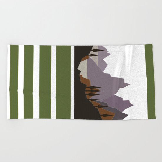 Rough Mountains Beach Towel