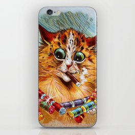 "Louis Wain's Cats ""Tom Smith's Crackers"" iPhone Skin"