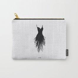 Little Black Fringe Dress Carry-All Pouch