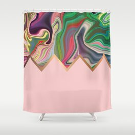 Dusty Razz Shower Curtain