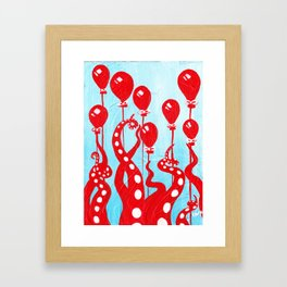 Party of One, the Octopus's Birthday Framed Art Print