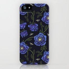 Midnight Hellebore iPhone Case