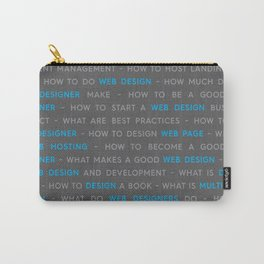 Blue Web Design Keywords Poster Carry-All Pouch