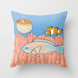 Fish Day Throw Pillow