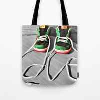 sneaker Tote Bags featuring Sneaker Love by SefoG