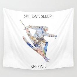 SKI. EAT. SLEEP. REPEAT. Wall Tapestry
