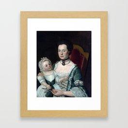 William Johnston Mrs. Jacob Hurd and Child Framed Art Print