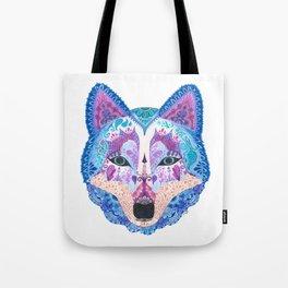 Henna Wolf Tote Bag