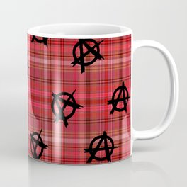 red plaid anarchy Coffee Mug