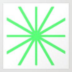 Green Clock Art Print