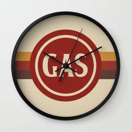 Retro Gas Station Wall Clock