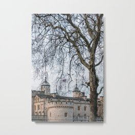 Tower of London in Winter Metal Print