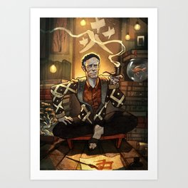 Alan Watts in his Boat House Art Print