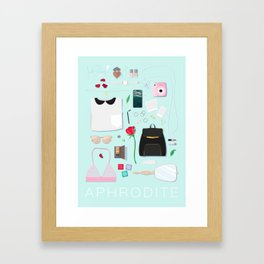 Modern Aphrodite Flat Lay Framed Art Print