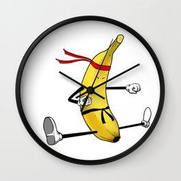 Banana Split Funny Yellow Ripen Fruit Wall Clock