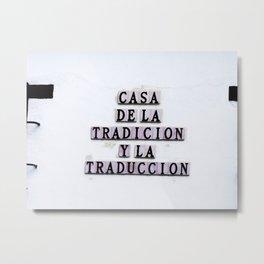 Tradition/Translation Metal Print