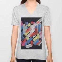 Multicolor construct Unisex V-Neck