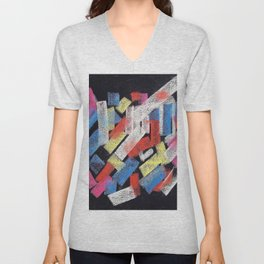 Multicolor construct Unisex V-Neck