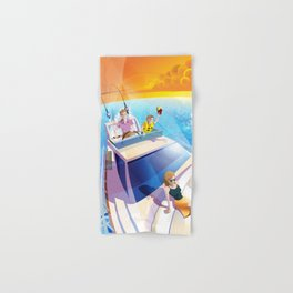 FAMILY ON YACHT Hand & Bath Towel