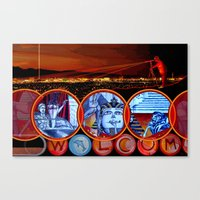 sin city Canvas Prints featuring Sin City by Rishi Parikh