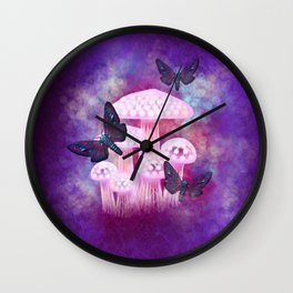 Dusk Hawk Moths Wall Clock