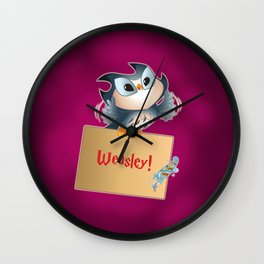 Pigwidgeon a replacement owl Wall Clock