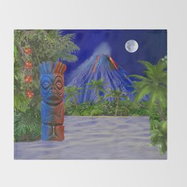 Tiki Art Background Throw Blanket