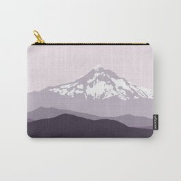 Snow Capped Mountain Landscape - Purple Carry-All Pouch