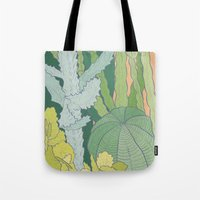 cacti Tote Bags featuring Cacti by Julia Walters Illustration