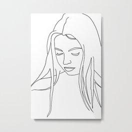 Women Looking Down Metal Print