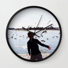 Frisbee throw Wall Clock