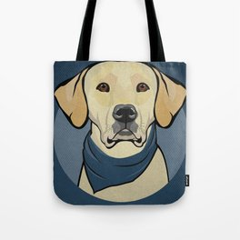 Icons of the Dog Park: Yellow Labrador Design in Bold Colors for Pet Lovers Tote Bag