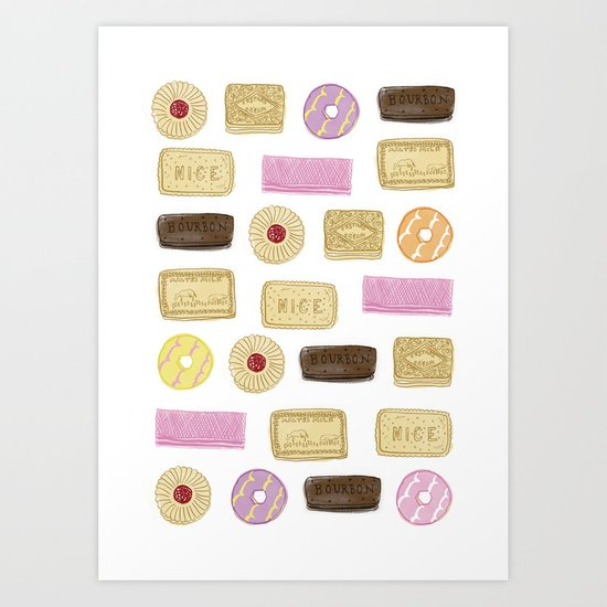 A TASTE OF CHILDHOOD: BISCUITS Art Print