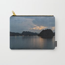 Relaxing sunset in Halong Bay, Vietnam Carry-All Pouch