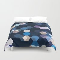 honeycomb Duvet Covers featuring HONEYCOMB by ED design for fun