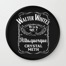 Walter White Pure Crystal Meth. Wall Clock