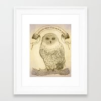 hedwig Framed Art Prints featuring Hedwig by Georgia Roberts