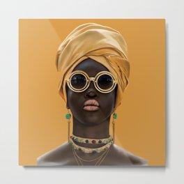 Black woman style/2 Metal Print