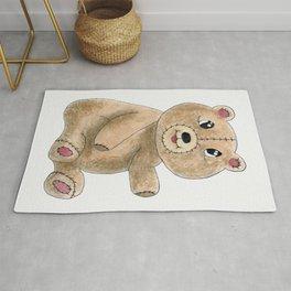 Teddy bear watercolor painting Rug